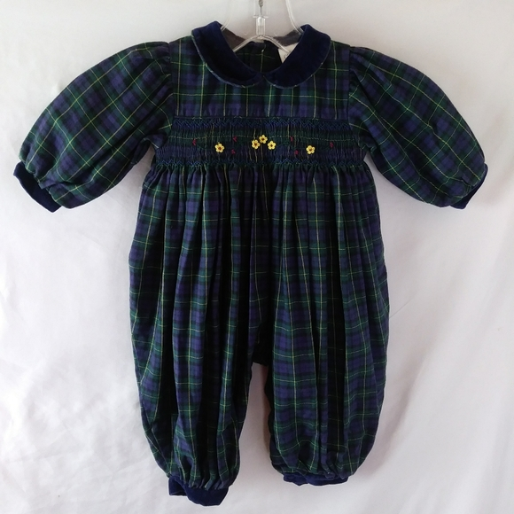 Carter's Other - Carters vintage jumpsuit romper 90s plaid snaps
